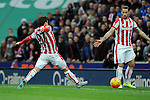 Bojan Krkic of Stoke City scores the opening goal of the game<br /> - Barclays Premier League - Stoke City vs Manchester United - Britannia Stadium - Stoke on Trent - England - 26th December 2015 - Pic Robin Parker/Sportimage