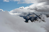 Cloud cover over mountain peaks, Sangre de Cristo mountains near Mt. Blanca. Jan 2013