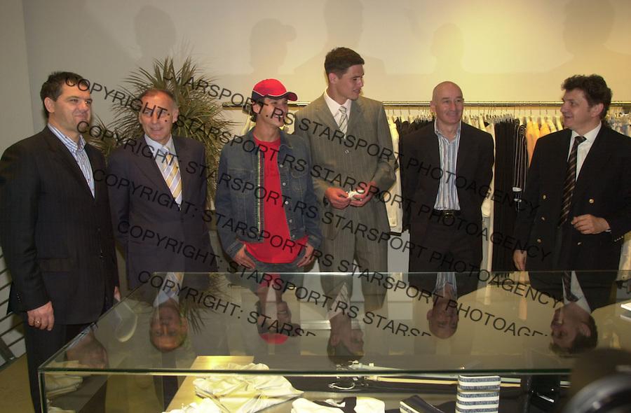SPORT FUDBAL CRVENA ZVEZDA ZIGIC MUSLIN DZAJIC PANTELIC EUROMODA MAJ 2004. FOTO: PEDJA MILOSAVLJEVIC&amp;#xA;&amp;#xA;&amp;#xA;&amp;#xA;<br />