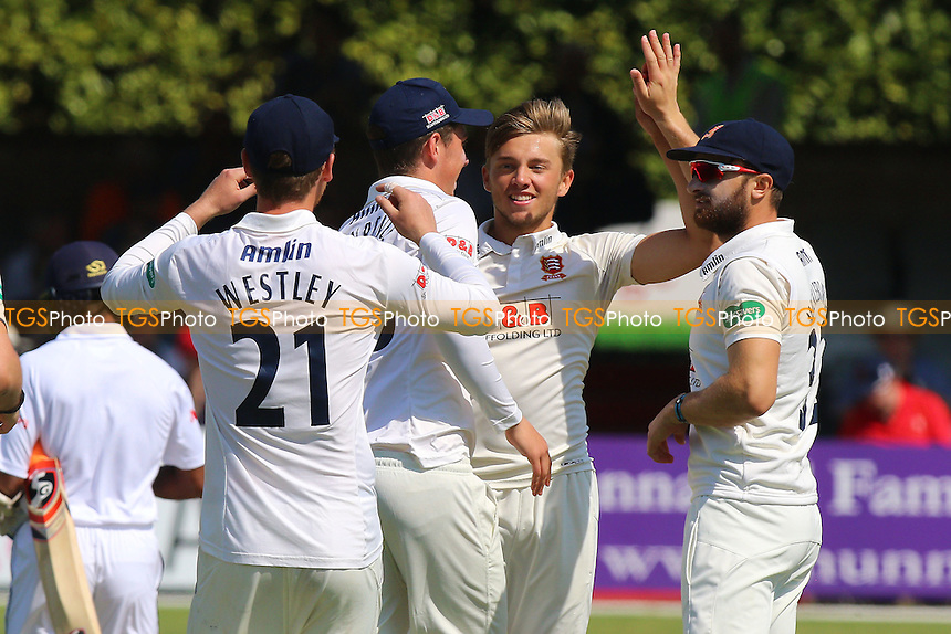 Aaron Beard of Essex celebrates taking the wicket of Kaushal Silva of Sri Lanka of Sri Lanka during Essex CCC vs Sri Lanka, Tourist Match Cricket at the Essex County Ground on 8th May 2016
