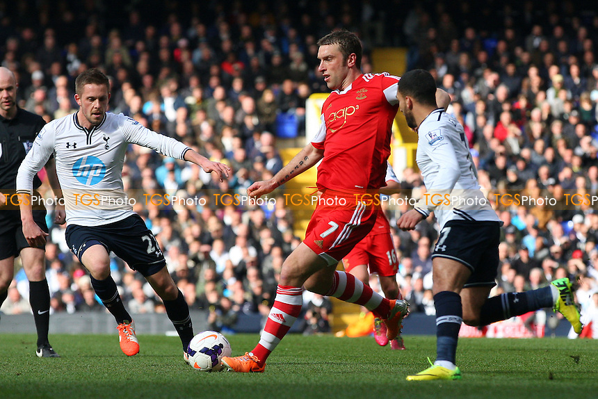 Rickie Lambert of Southampton and Gylfi Sigurosson of Tottenham Hotspur - Tottenham Hotspur vs Southampton, Barclays Premier League Football at the White Hart Lane Stadium - 23/03/14 - MANDATORY CREDIT: Dave Simpson/TGSPHOTO - Self billing applies where appropriate - 0845 094 6026 - contact@tgsphoto.co.uk - NO UNPAID USE