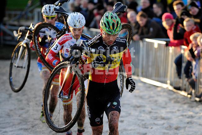 GIETEN - Wielrennen, Superprestige Cyclocross, elite heren, seizoen 2012-2013, 25-11-2012, Sven Nijs, Kevin Pauwels en Klaas Vantomout