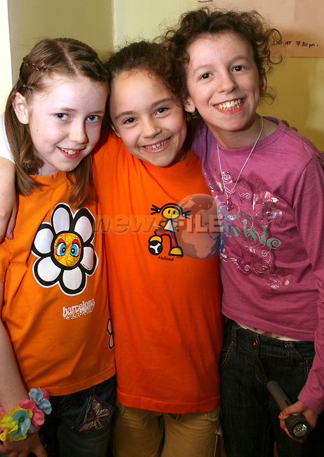 Niamh Kelly, Hannah Russell and Alison Kieran at the Dunleer Variety Performance Fundraiser for Haiti Victims...Photo NEWSFILE/Jenny Matthews.(Photo credit should read Jenny Matthews/NEWSFILE)....This Picture has been sent you under the condtions enclosed by:.Newsfile Ltd..The Studio,.Millmount Abbey,.Drogheda,.Co Meath..Ireland..Tel: +353(0)41-9871240.Fax: +353(0)41-9871260.GSM: +353(0)86-2500958.email: pictures@newsfile.ie.www.newsfile.ie.FTP: 193.120.102.198.