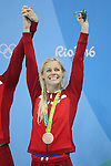 Pernille Blume (DEN),<br /> AUGUST 13, 2016 - Swimming : <br /> Women's 4x100m Medley Relay Award Ceremony<br /> at Olympic Aquatics Stadium <br /> during the Rio 2016 Olympic Games in Rio de Janeiro, Brazil. <br /> (Photo by Koji Aoki/AFLO SPORT)