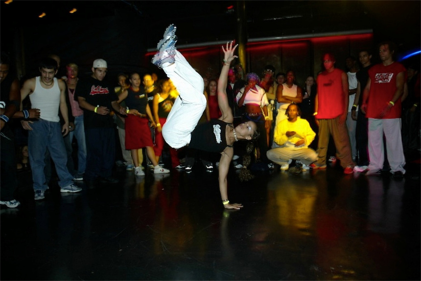 Breakdancing made its mark in the 1980's and is still considered the most revered form of night club one-up -manship.