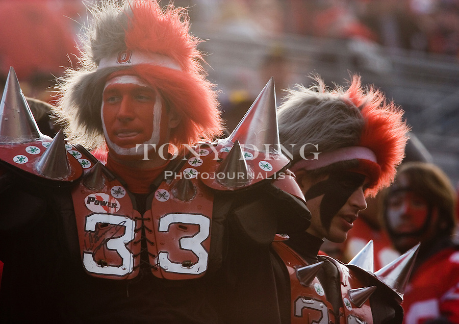 18 Nov 2006: Buckeyes fans dressed up in elaborate costumes during Ohio State's 42-39 win over Michigan in a college football game at Ohio Stadium in Columbus, OH.