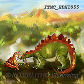 Marcello, CUTE ANIMALS, LUSTIGE TIERE, ANIMALITOS DIVERTIDOS, paintings+++++,ITMCEDH1055,#AC#, EVERYDAY ,dinos,dinosaurs