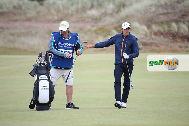 Joakim Lagergren (SWE) during Round One of the 2016 Aberdeen Asset Management Scottish Open, played at Castle Stuart Golf Club, Inverness, Scotland. 07/07/2016. Picture: David Lloyd | Golffile.<br /> <br /> All photos usage must carry mandatory copyright credit (&copy; Golffile | David Lloyd)