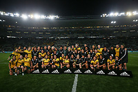 The Wallaroos after the Laurie O'Reilly Memorial Trophy international women's rugby match between the New Zealand Black Ferns and Australia Wallaroos at Eden Park in Auckland, New Zealand on Saturday 25 August 2018. Photo: Simon Watts / lintottphoto.co.nz
