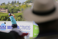Pablo Larrazabal (ESP) on the 7th tee during the second round of the Mutuactivos Open de Espana, Club de Campo Villa de Madrid, Madrid, Madrid, Spain. 04/10/2019.<br /> Picture Hugo Alcalde / Golffile.ie<br /> <br /> All photo usage must carry mandatory copyright credit (© Golffile | Hugo Alcalde)