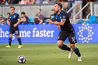 SAN JOSE, CA - AUGUST 24: Guram Kashia #37 of the San Jose Earthquakes during a game between Vancouver Whitecaps FC and San Jose Earthquakes at Avaya Stadium on August 24, 2019 in San Jose, California.