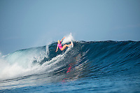 Namotu Island Resort, Nadi, Fiji (Sunday, May 29 2016): Tatiana Weston-Webb (HAW) - The  2016 Fiji Women's Pro commenced at 8 am this morning in clean 3'-4' waves at Cloudbreak. Round One was completed in near perfect conditions with just a slight offshore wind before the contest was called off for the day. Photo: joliphotos.com