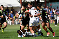 Hurricanes' Alex Fidow in action during the Super Rugby Preseason - Hurricanes v Crusaders at Levin Domain, Levin, New Zealand on Saturday 2 February 2019. <br /> Photo by Masanori Udagawa. <br /> www.photowellington.photoshelter.com