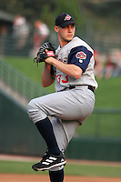 Syracuse Sky Chiefs Dustin McGowan during an International League game at Frontier Field on May 31, 2006 in Rochester, New York.  (Mike Janes/Four Seam Images)