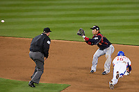 23 March 2009: #15 Yong-Kyu Lee of Korea slides head first trying to steal second base against #6 Hiroyuki Nakajima of Japan in the sixth inning during the 2009 World Baseball Classic final game at Dodger Stadium in Los Angeles, California, USA. Japan defeated Korea 5-3