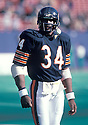 Chicago Bears Walter Payton (34) during a game at Soldier FIeld in Chicago Illinois from his 1985 season.  Walter Payton played for 13 years, all with the Chicago Bears, was a 9-time Pro Bowler and was inducted to the Pro Football Hall of Fame in 1993.