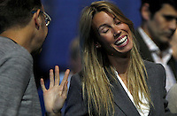 Mar?a Isabel Nadal, sister of Rafael Nadal of Spain, smiles at the ATP World Tour Finals, The O2, London, 2015