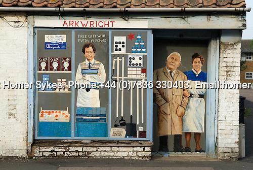 General village store shop closed down. Chatteris. Cambridgeshire UK 2008.