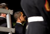 Washington, DC - July 24, 2009 -- United States President Barack Obama attends the Evening Parade at the Washington Marine Barracks on Friday, July 24, 2009.  .Credit: Kristoffer Tripplaar / Pool via CNP