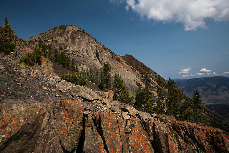 The dramatic 3343m Electric Peak, in the Gallatin Range, Montana, in Yellowstone National Park. The mountain is named for the amount of thunderstorms it attracts. Picture made at about 3000m, halfway through an epic three-day backcountry hike.