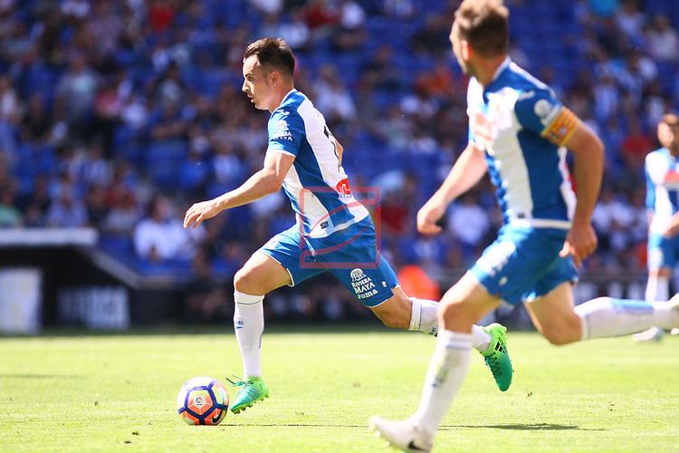 League Santander 2016/2017. Game: 37.<br /> RCD Espanyol vs Valencia CF: 0-1.<br /> Jose Manuel Jurado.