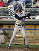 August 24, 2004:  Shaun Cumberland of the Hudson Valley Renegades, NY-Penn League (Short Season Single-A) affiliate of the Tampa Bay Devil Rays during a game at Dwyer Stadium in Batavia, NY.  Photo by:  Mike Janes/Four Seam Images
