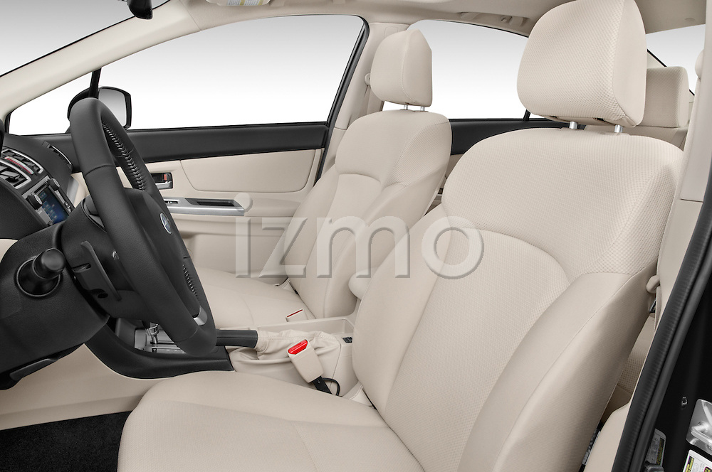 Front seat view of a 2015 Subaru Impreza premium 4 Door Sedan front seat car photos