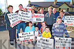 Pictured at the mast protest in Glenbeigh on Friday evening were Evelyn Griffin, Clara Leahy, Tommy Quirke, Sean Quirke, Danny Griffin, Sheila Griffin, John Joe Quirke, Margaret O'Riordan, Tom Quirke, Geraldine Murphy, Jim Diggin, Teresa Quirke, Milynn and Dominic Dwyer and Anne O'Shea...