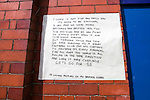 (Inset) A notice posted on the Ibrox wall