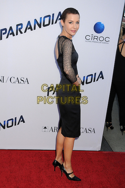 Embeth Davidtz<br /> &quot;Paranoia&quot; Los Angeles Premiere held at the Directors Guild of America, West Hollywood, California, USA, 8th August 2013.<br /> full length hand on hip dress side black cut out shoes heels <br /> CAP/ADM/BP<br /> &copy;Byron Purvis/AdMedia/Capital Pictures