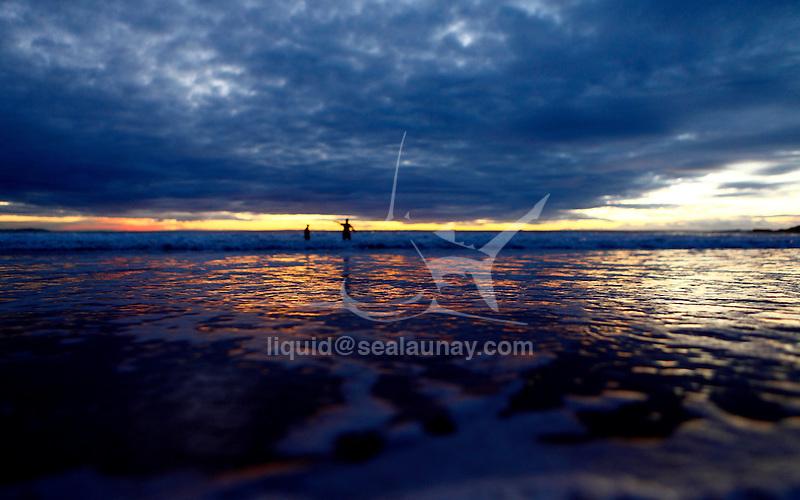 Sunrise at Manly Beach.