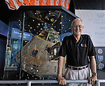 Astronaut Charlie Duke, lunar module pilot for Apollo 16 and the 10th man to walk on the moon stands in front of the Apollo 16 Command Module at the U.S. Space & Rocket Center July 20, 2012 on the anniversary of the first moon landing. (The Huntsville Times/Bob Gathany)