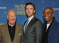 NEW YORK, NY - NOVEMBER 12:  Christopher Plummer and Dan Stevens and  Bharat Nalluri attend 'The Man Who Invented Christmas' New York Screening at Florence Gould Hall on November 12, 2017 in New York City. <br /> CAP/MPI/JP<br /> &copy;JP/MPI/Capital Pictures