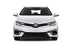 Car photography straight front view of a 2017 Toyota Corolla-iM CVT-Automatic 5 Door Hatchback Front View