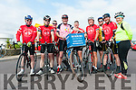 A group of cyclists from Dingle at the start of the Big Blue Box Wild Atlantic Way Volunteer Challenge.