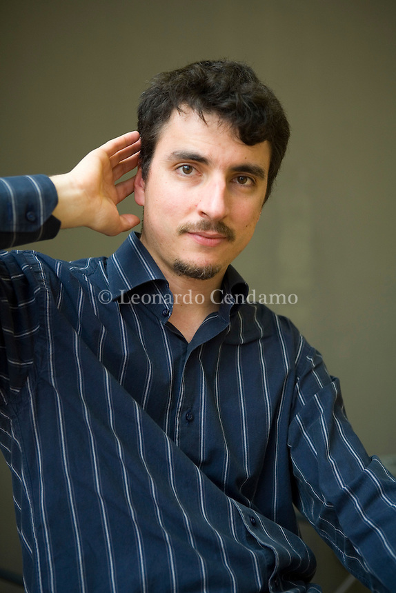 Turin, Italy, 2007. Mario Desiati, Italian writer, poet and journalist.