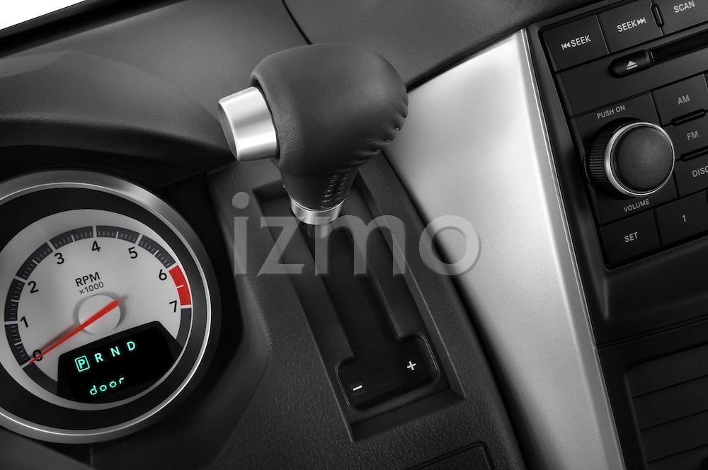 Gear shift deatil of a 2008 Dodge Caravan