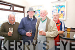 At an exhibition of work by artist Ramie Leahy in Cable O'Leary's, Ballinskelligs on Saturday celebrating Cill Rialaig 21 years were l-r; Frank Cranks, Brendan Rooney, Dave Duncan & Donal Goggin.