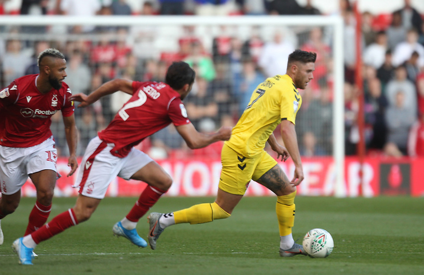 Fleetwood Town's Wes Burns <br /> <br /> Photographer Mick Walker/CameraSport<br /> <br /> The Carabao Cup First Round - Nottingham Forest v Fleetwood Town - Tuesday 13th August 2019 - The City Ground - Nottingham<br />  <br /> World Copyright © 2019 CameraSport. All rights reserved. 43 Linden Ave. Countesthorpe. Leicester. England. LE8 5PG - Tel: +44 (0) 116 277 4147 - admin@camerasport.com - www.camerasport.com