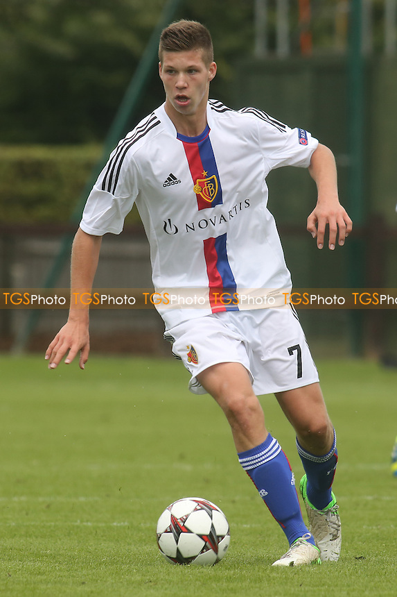 Cedric Jan Itten of FC Basel - Chelsea Under-19 vs FC Basel Under-19 - UEFA Youth League Football at Chelsea FC Cobham Training Ground, Surrey - 18/09/13 - MANDATORY CREDIT: Paul Dennis/TGSPHOTO - Self billing applies where appropriate - 0845 094 6026 - contact@tgsphoto.co.uk - NO UNPAID USE