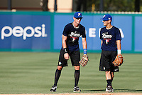 18 September 2012: France Emmanuel Garcia and Maxime Lefevre are seen during Team France practice, at the 2012 World Baseball Classic Qualifier round, in Jupiter, Florida, USA.