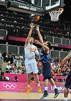 02.08.2012. London, England.  Pau Gasol Espagne Basketball Spain versus Great Britain.