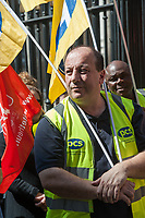 PCS protest by British Museum workers employed by failed company Carillion 18-4-18