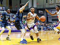 University at Albany men's basketball defeats Maine at the  SEFCU Arena, Feb. 24, 2018.  David Nichols (#13). (Bruce Dudek / Eclipse Sportswire)