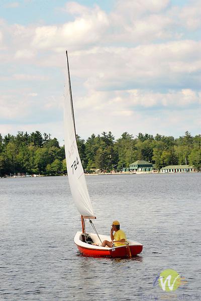 Sailing,Eagles Mere Lake, PA.