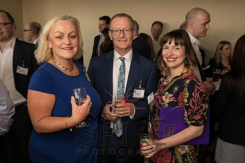From left are Heather Stanford of Stanford Gould, Mark Dyer of GET Management and Verena Batchelor of The Dairy Creative Agency