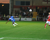 11/08/2015 Capital One Cup, First Round Fleetwood Town v Hartlepool United<br /> Rakish Bingham's long range shot goes wide