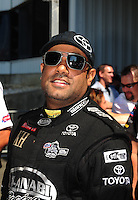 Jun. 3, 2012; Englishtown, NJ, USA: NHRA top fuel dragster driver Khalid Albalooshi during the Supernationals at Raceway Park. Mandatory Credit: Mark J. Rebilas-