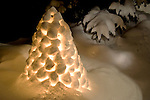 Candlelit Snow Lantern Glowing on a Winter Night