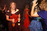 "Cirencester Royal Agricultural College annual end of year dance Gloucestershire England. Circa 1995. ""Girls in red and blue, pink Champagne."""